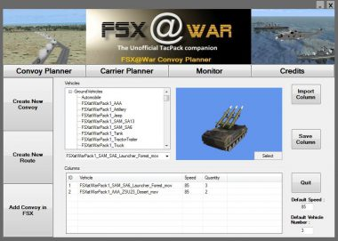 Sortie de FSXatWar V1.0