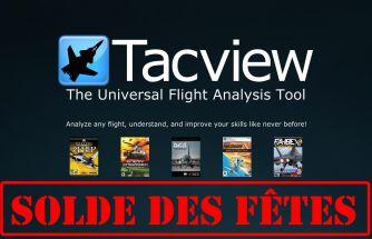 Solde des fêtes : -40% sur toutes les licences de Tacview !