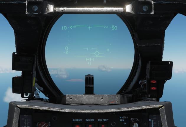 HUD en mode AIR AIR avec cible accrochée
