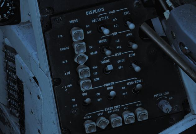 Panel droit : sélection des modes HUD