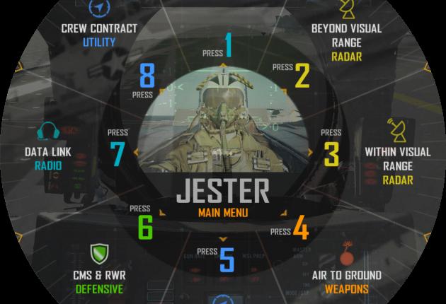 La roue d'ordres permettant d'adresser de demandes à Jester.
